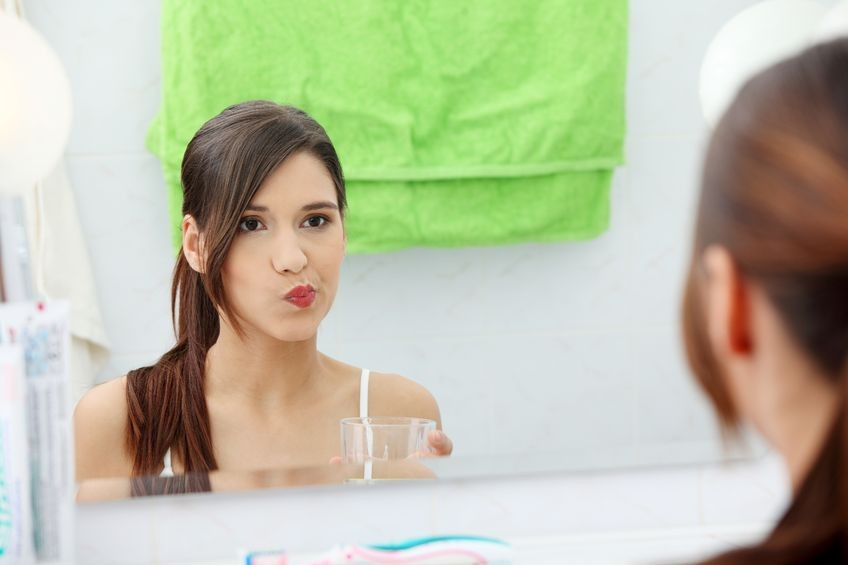 Can you use mouth wash instead of flossing?